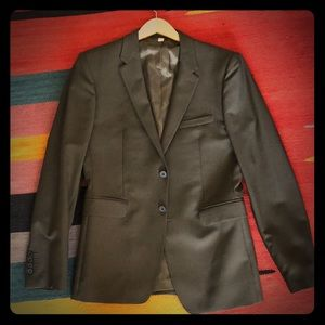 Men's Olive Green Burberry Suit